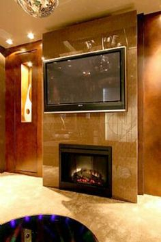 Home theater fireplace tv