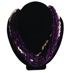 Purple Agates & Grade A Pearls. A pearl is a hard object produced within the soft tissue of a living shelled mollusc.  The ideal pearl is perfectly round and smooth, but many other shapes of pearls occur as you will see in many of our pearl necklaces.