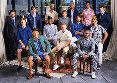 Breath of fresh air over at the @bonobos spring 2016 presentation. Nice to see our guys, Quetzal and Kane  #qmodels
