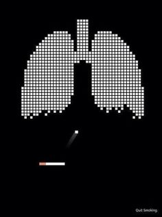 Good way of describing the harm your lungs go through. This anti smoking campaign is really clever as it uses a well known came to show how smoking damages the lungs.