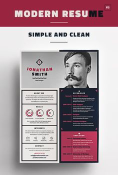 Modern CV / Resume Templates with Cover Letter Graphic Design Cv, Cv Design, Resume Design, Cover Letter Design, Cover Letter Template, Modern Resume Template, Resume Template Free, Cv Website, Cv Original