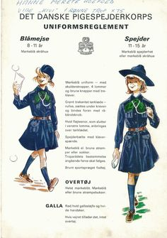 Danish Brownie and Guide uniforms 1960s