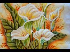 Pintura em Tecido - Série Iniciante Copo de Leite - Flor - Graça Tristão - YouTube