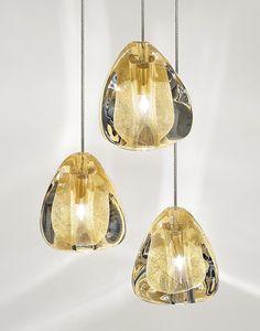 Halogen crystal pendant #lamp MIZU by TERZANI | #design Nicolas Terzani @terzani