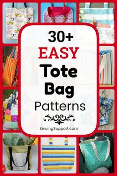 Free Tote Bag Patterns to sew. easy tote bag patterns, diy projects, and sewing tutorials. Tote bag designs simple and easy enough for a beginner to sew. Bag Patterns To Sew, Sewing Patterns Free, Free Sewing, Sewing Tutorials, Sewing Projects, Diy Projects, Bag Tutorials, Pattern Sewing, Tote Pattern