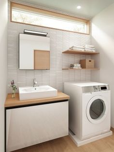Room Frames: learn how to choose and see 60 models - Home Fashion Trend Laundry In Bathroom, Washroom, Fixer Upper House, Minimalist Room, Room Pictures, Bath Vanities, Model Homes, Interior Architecture, Home Appliances