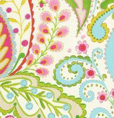 Dena Designs Kumari Garden Fabric - Teja - Pink