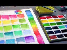 PRIMA Watercolors//Coloring Book//Waterbrushes//Watecolor Panel REVIEW & Tutorial - YouTube