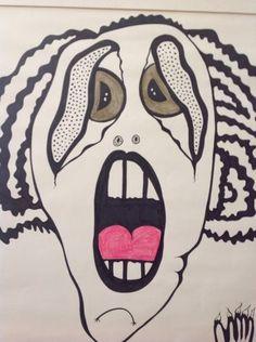 "High Anxiety! Original Drawing 24x30"""