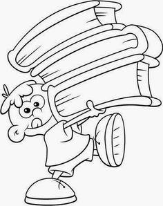 Dibujos para colorear. Maestra de Infantil y Primaria.: Dibujos de niños y niñas para colorear Pattern Coloring Pages, Colouring Pages, Coloring Sheets, Coloring Books, School Coloring Pages, Coloring Pages For Boys, Animal Coloring Pages, Charlie E Lola, Paper Box Template
