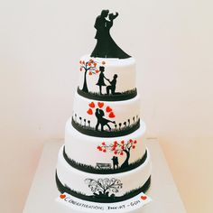 Couple in Love by Urvi Zaveri  - http://cakesdecor.com/cakes/251505-couple-in-love