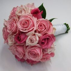 Roses are Many Colours, Shapes and Sizes   The Bride's Tree - Sunshine Coast Wedding    Bride's bouquet - pink roses.  From i-blossom