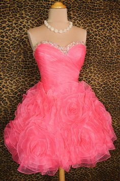 125.00$  Watch now - http://vipun.justgood.pw/vig/item.php?t=nvf9s6t47956 - Pink Short/Mini Organza Homecoming Formal Party Dress/Cocktail/Party Dresses