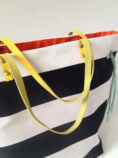 Fabric Paper Glue: Try This: Stripes + Color Tote Bag