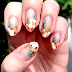 30 beautiful flower nails design ideas You worth trying – Page 18 – nageldesign. Stiletto Nails, Gel Nails, Manicure, Coffin Nails, Acrylic Nails, Pastel Nails, Minimalist Nails, Flower Nail Designs, Nail Art Designs