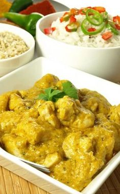 Poulet au curry - The Best Easy Mexican Recipes Vegetarian Crockpot Recipes, Healthy Chicken Recipes, Mexican Food Recipes, Dinner Recipes, Cooking Recipes, Ethnic Recipes, African Recipes, Shredded Chicken Recipes, Bacon