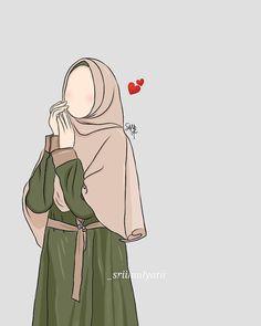 Doodle Art For Beginners, Hijab Drawing, Art Drawings Sketches Simple, Islamic Cartoon, Hijab Cartoon, Islamic Girl, Disney Wallpaper, Art Girl, Amazing Art