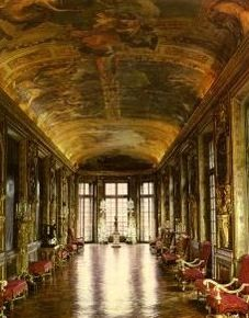 Hotel Lambert Paris  Gallerie d'Hercules ~ decorated by Charles Le Brun, François Perrier, and Eustache Le Sueur, producing one of the finest, most-innovative, and iconographically coherent examples of mid-17th-century domestic architecture and decorative painting in France.