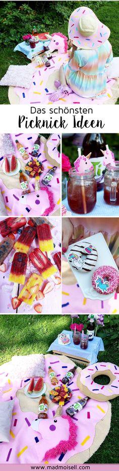 DIY Picknick Ideen im Einhorn Stil: So wird dein tolles Sommer-Picknick perfekt! Hier findest du viele DIY Deko Ideen und leckere Picknick Rezepte. Besuche madmoisell.com für mehr!
