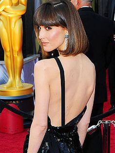 Rose Byrne's Vivienne Westwood sequin column gown featured an asymmetrical back. See more of Oscars Best Dressed: http://bit.ly/xSRxCa