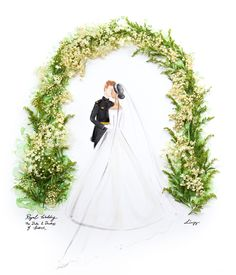 Love Limzy - The Royal Wedding of the Duke & Duchess of Sussex Prince Henry, Floral Artwork, Royal Weddings, Prince Harry And Meghan, Duke And Duchess, Photo And Video, Love, Wedding Dresses, Artworks