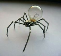 """Maybe have some of these """"crawling"""" on me and/or my hat? Could also replace the light bulb with """"poison""""."""