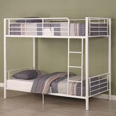 Home Loft Concept Brady Twin over Twin Bunk Bed with Built-In Ladder | AllModern