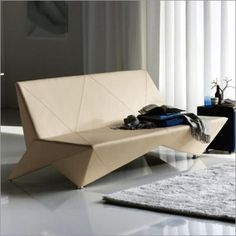 Oragami Sofa Makes Into Bed