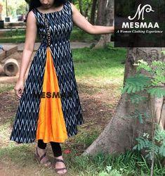 40 Ideas Dress Indian Ikkat For 2019 Dress Long Dress Design, Dress Neck Designs, Designs For Dresses, Chudithar Neck Designs, Blouse Designs, Churidar Designs, Kurta Designs Women, Kalamkari Dresses, Ikkat Dresses