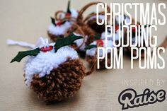 Wishes and Tea: DIY: Christmas Pudding Pompom Decoration