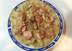 Shrimp & Spring Onion Omelette. Recipe -  Very Delicious. You must try this recipe!