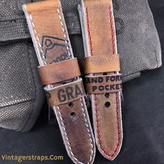 Some excellent custom Panerai straps from a couple of baseball gloves a customer sent. You'd be surprised how little leather that's good for straps there is in a baseball glove. www.vintagerstraps.com #vintagerstraps #paneraistraps #paneraicentral #handmade #madeintheusa #watchstraps #panerai #paneristi