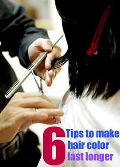 How to make your hair color last longer. Great idea for highlights and brown hair or any style or color of hair color