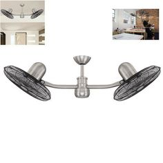 Ceiling-Fan-With-Light-Kit-50-In-Outdoor-Remote-Decor-Flush-Mount-Nickel-Modern