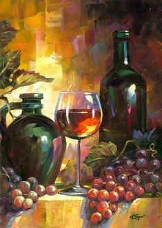 """Good evening, Ladies of Touches... hope this finds you all well. I was searching for a palette for tonight and thought this might be pretty and fun. Please pin images in any one or all colors of this painting. If the board took on a little bit """"wine-ey or grape-ey"""" that might look pretty. As long as the colors are right. Have fun! Art by: Korognai János"""