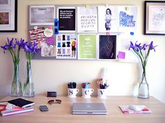 my desk will look this neat and colorful...at the beginning of the semester