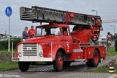 DAF ladderwagen ex brandweer Hoogezand.