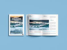 Free Top View Magazine Mockup on Behance