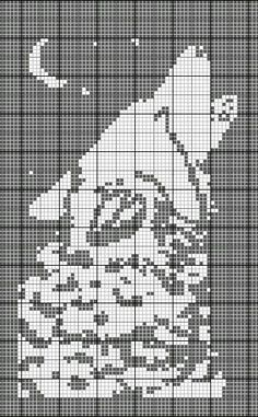 Detailed Howling Wolf cross stitch pattern