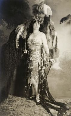 Starry Night Dress. Fancy dress, 1926, Hillman Estate.  Photo of Marjorie Merriweather Post..Anything Goes - Celebrating the 20s