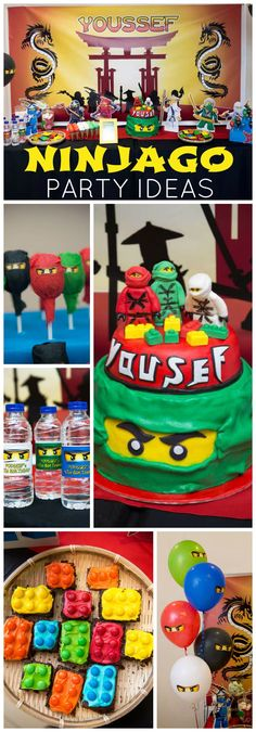 How cool is this Lego Ninjago birthday party?! See more party ideas at CatchMyParty.com!