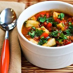 30 Minute Spicy Red Fish Stew (Low-Carb, Gluten-Free, Paleo) --> make it even better by poaching a few eggs separately into the spicy broth about 8-10 minutes before the fish will be done. Then serve one poached egg with each bowl.