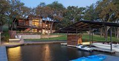 Agréable résidence secondaire en bois et pierre au pied d'un Lac du Texas,