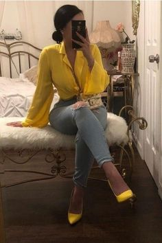 Outfit with heels IG: bold.beautycollective❄️ Smart casual outfit - Sites new Smart Casual Outfit, Outfit Chic, Classy Outfits, Stylish Outfits, Casual Heels, Mode Outfits, Fall Outfits, Summer Outfits, Black Girl Fashion