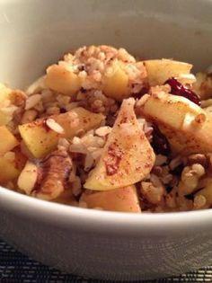 Hearty whole grain breakfast.