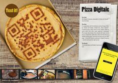 A pizza QR code