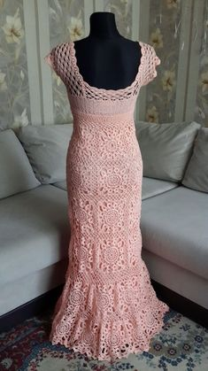 Летнее персиковое платье в пол – купить в интернет-магазине на Ярмарке Мастеров с доставкой - FQ4K9RU | Днепр