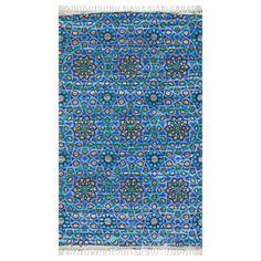 Loloi Aria Blue Handmade Cotton Rug - for entry