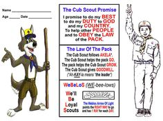 cub scout printables - Google Search