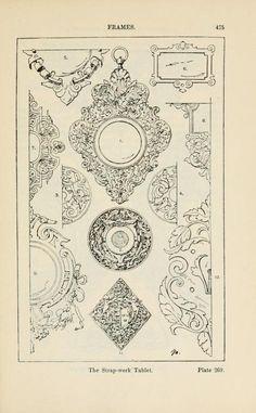 A handbook of ornament; frames the strap-work tablet pg 475